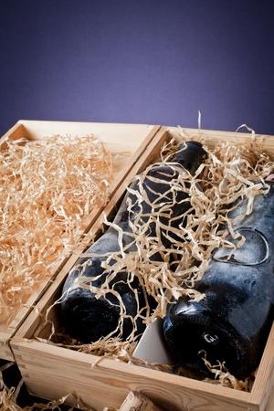 old bottle of wine Stock Photo - 13523332
