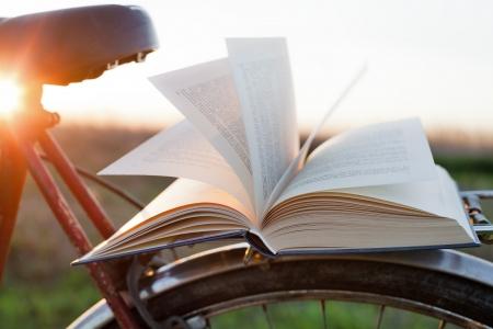 lezing: lezen van een boek in openlucht te ontspannen
