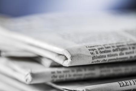 krant, document voor informatie Stockfoto