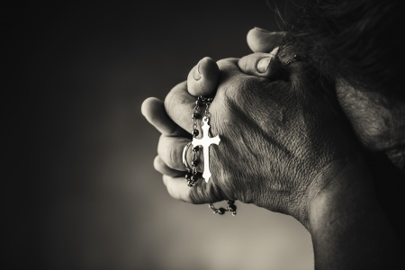 worship white: Praying with a rosary