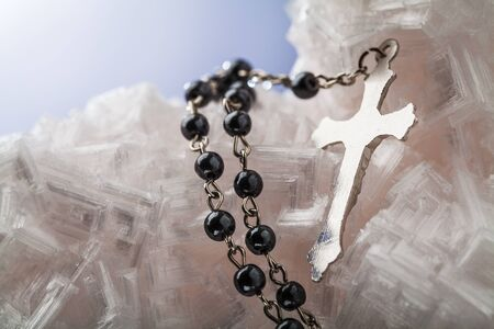 rosary with cross  photo
