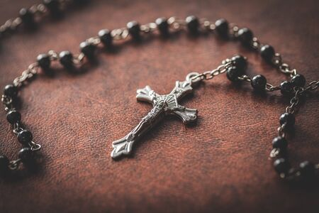 bible and crucifix  photo
