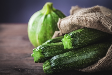 vegan food: zucchini in sack