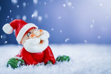 Santa Claus and snow  Stock Photo - 16173935