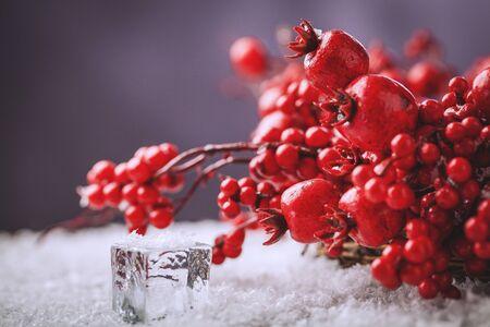Christmas wreath berries