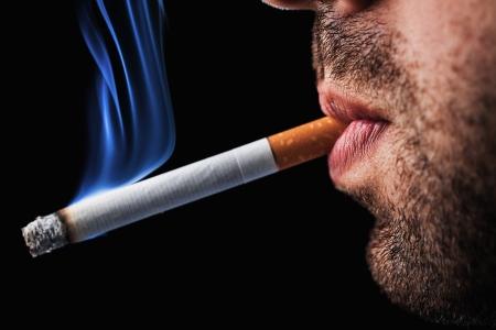 ashes: man smoking cigarette