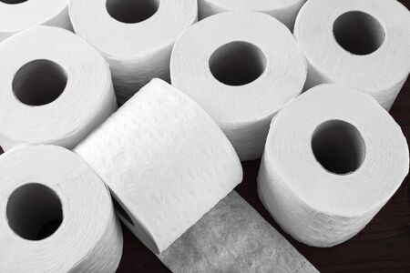 paper toilet rolls Stock Photo - 16692553