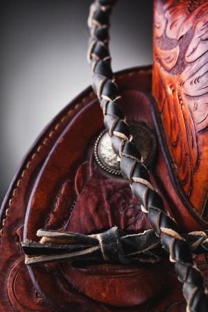 western saddle: horse saddle