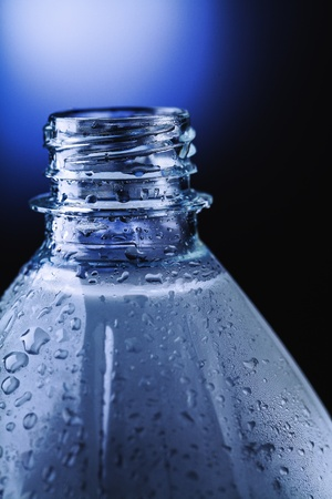 water drops on the surface of a plastic bottle Stock Photo - 21024686