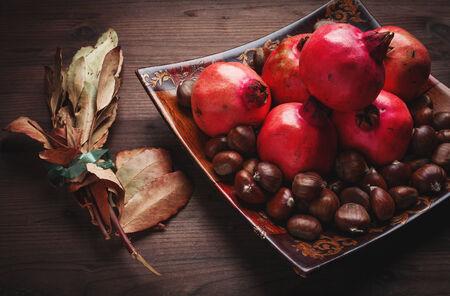 pomegranate and chestnut