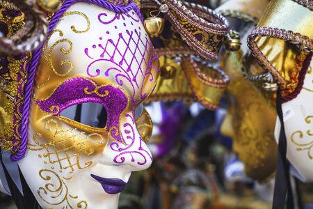 gold facial: Venice carnival mask
