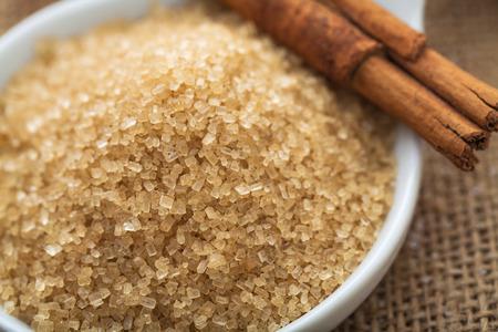 refined brown sugar demerara Mauritius and cinnamon