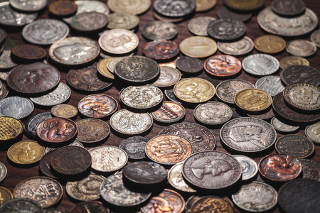 neologism: old coins background
