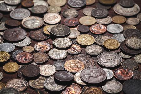 monete antiche: vecchie monete sfondo