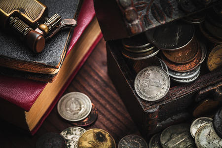 old coins and old object