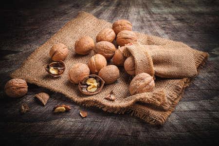 walnuts on jute