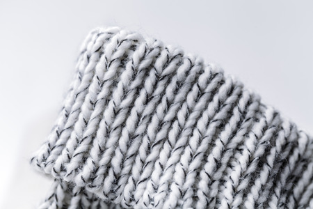 Wool fabrics for the cold winter. Hat and sweater.