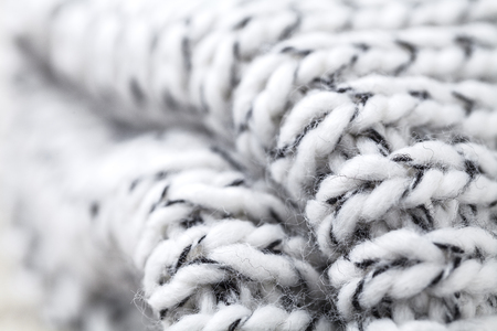 confortable: Wool fabrics for the cold winter. Hat and sweater. macro