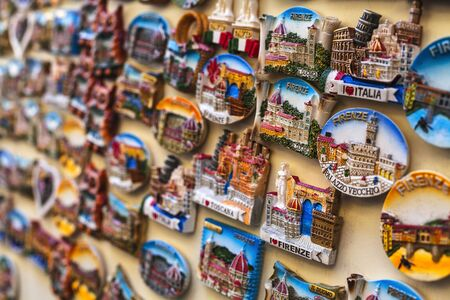 tourist magnets of Florence retailed Stock Photo