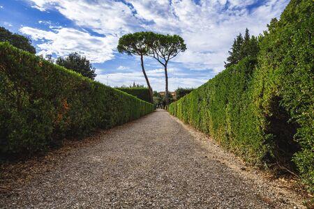 inside the garden of Boboli Standard-Bild