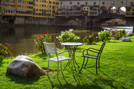 relax overlooking the old bridge. Florence