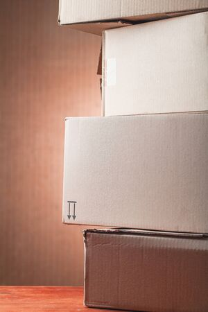cardboard boxes used Standard-Bild