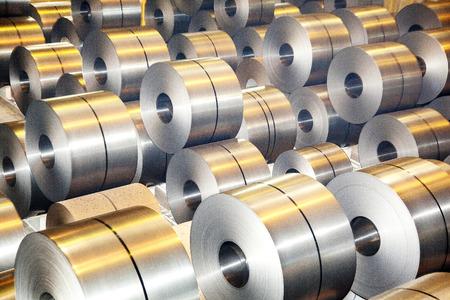steel: Steel metal-roll Stock Photo