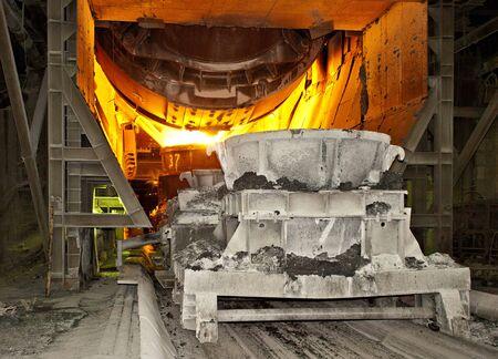 Molten hot steel photo