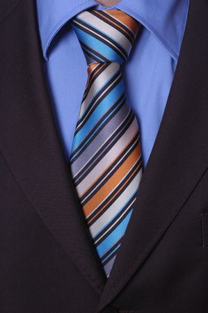 formal shirt: Detail  of a Businessmans Tie