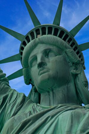 Closeup of the Statue of Liberty on Liberty Island photo