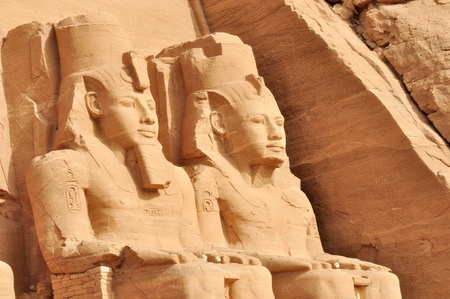 Great temple of Abu Simbel, in Egypt, Africa. It was constructed for the pharaoh Ramesses II who reigned for 67 years during the 13th century BC (19th Dynasty). photo