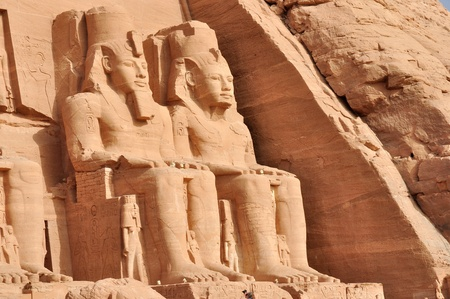 dynasty: Great temple of Abu Simbel, in Egypt, Africa. It was constructed for the pharaoh Ramesses II who reigned for 67 years during the 13th century BC (19th Dynasty).