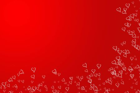 hollyday: Valentines Day background frame, red with Hearts