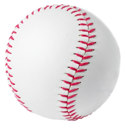 Image of a Baseball in a white background 免版税图像