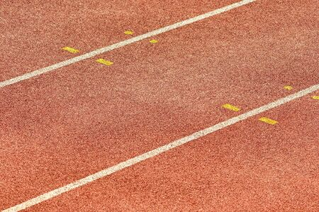 Detail of an athletics running track photo