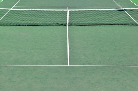 Detail eines Tennisplatzes