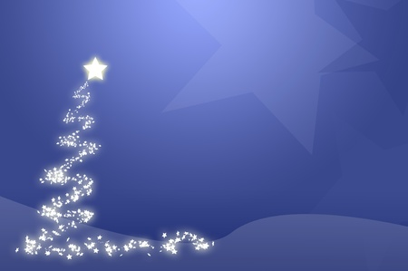 생성 된 블루 크리스마스 트리 벽지, 컴퓨터.