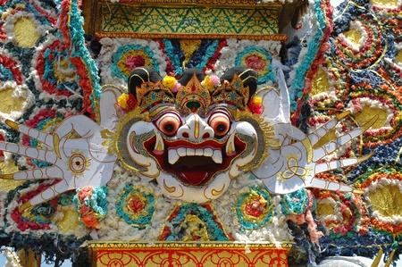Decoration of cremation ceremony in Ubud, Bali  免版税图像
