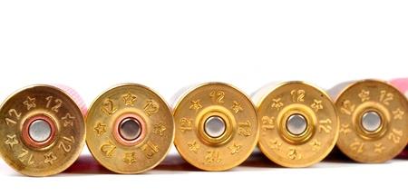 millimetres: 12 gauge red shtogun shells used for hunting