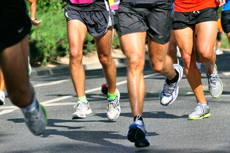 Group of marathon racers running Stock Photo - 11715849