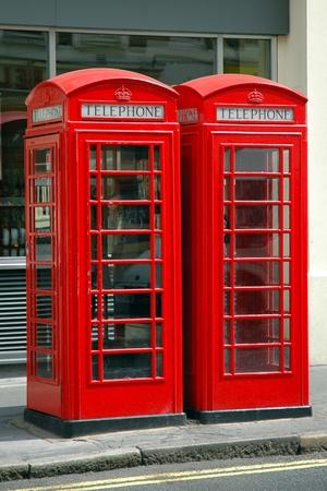 Typical british public payphone, in London, United Kingdom photo