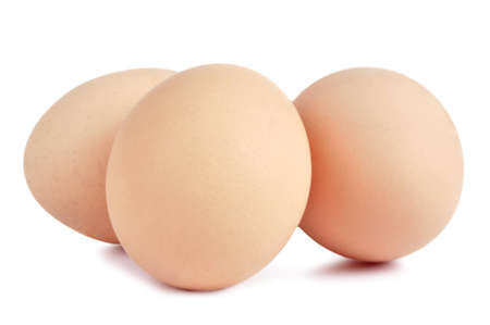 Three Eggs on a white isolated background Stock Photo - 12428577