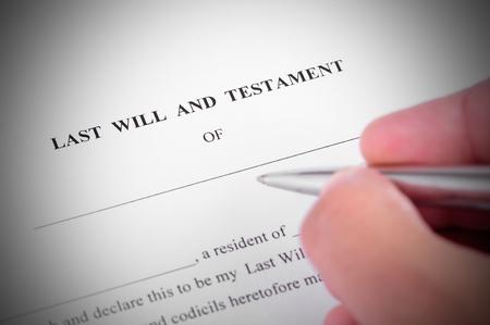 Laatste zal en testment klaar om te worden ondertekend