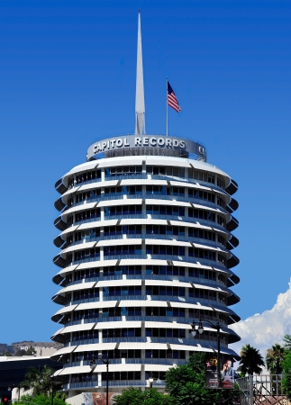the capitol: Capitol Records Tower in LA Editorial