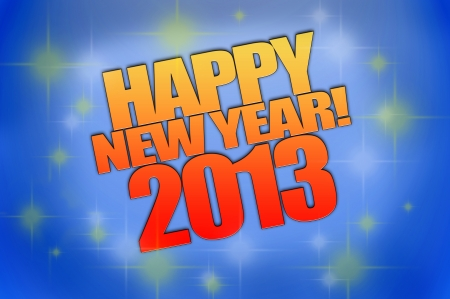 Happy New Year 2013 background computer rendered photo