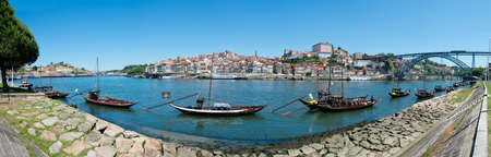 Oporto - June 1: Ribeira is an ancient and typical place in Oporto, located along the Douro river and registered as a World Heritage Site by UNESCO in 1996 . June 1st 2014 in Oporto, Portugal