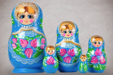 Matrioska Russian Doll, side by side Stock Photo