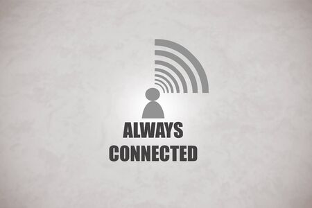 being: Concept of being always connected to a computer network