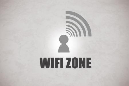 wifi: WIFI Zone logo in a grey background