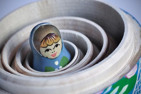 Matrioska ロシア人形は、他の中の最小 写真素材